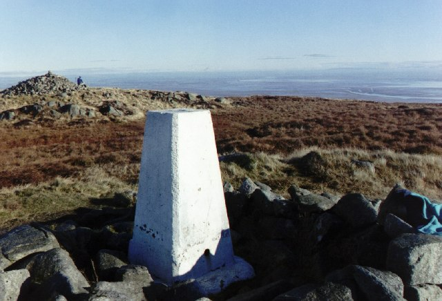 Trig point and Douglas's Cairn, Criffel