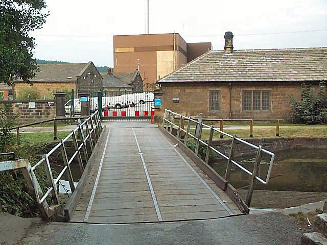 Entrance to Esholt sewage works