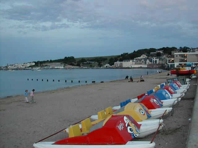 Swanage Beach at twilight