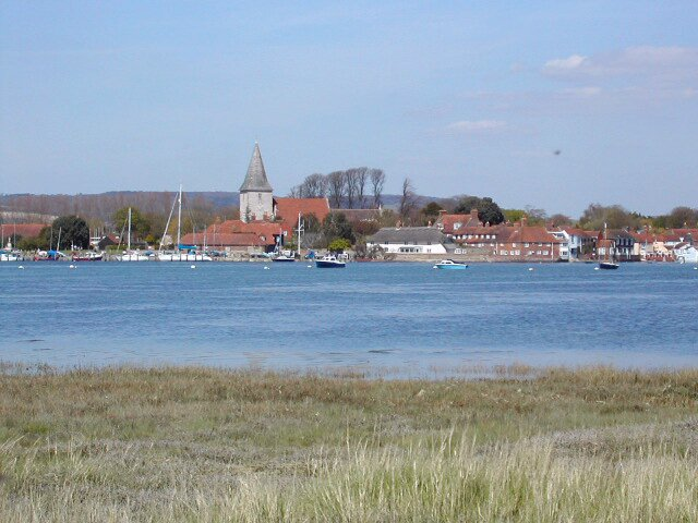 Bosham waterfront from across the bay