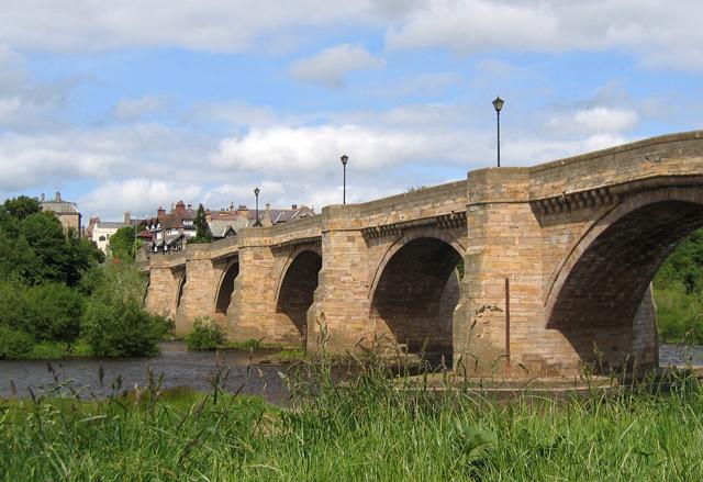 Bridge over River Tyne at Corbridge