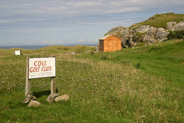 Coll Golf Club and sports grounds