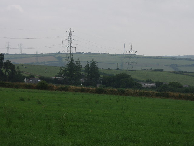 Pylons on Mulberry Downs