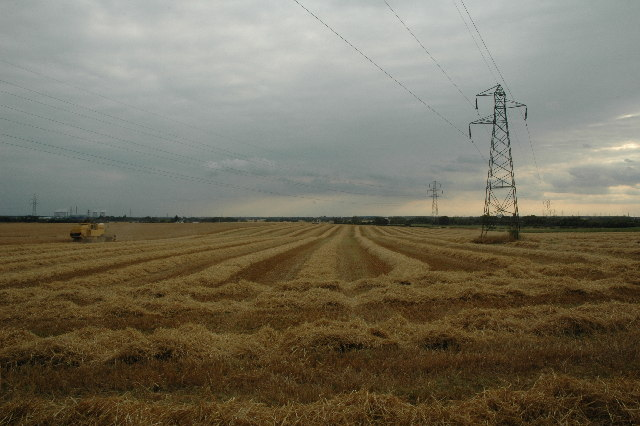 View across farmers field