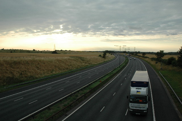 M6 passing through farmland