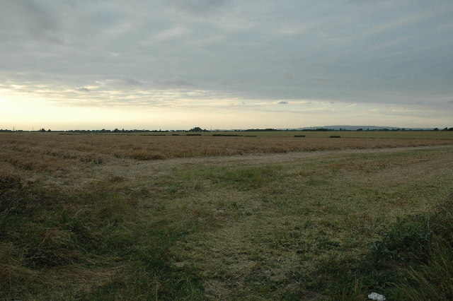 View across farm land