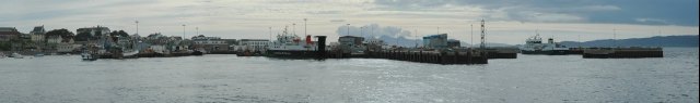 Panoramic view of Mallaig Harbour