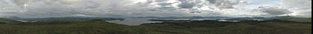 360 panorama taken from Beinn Lora