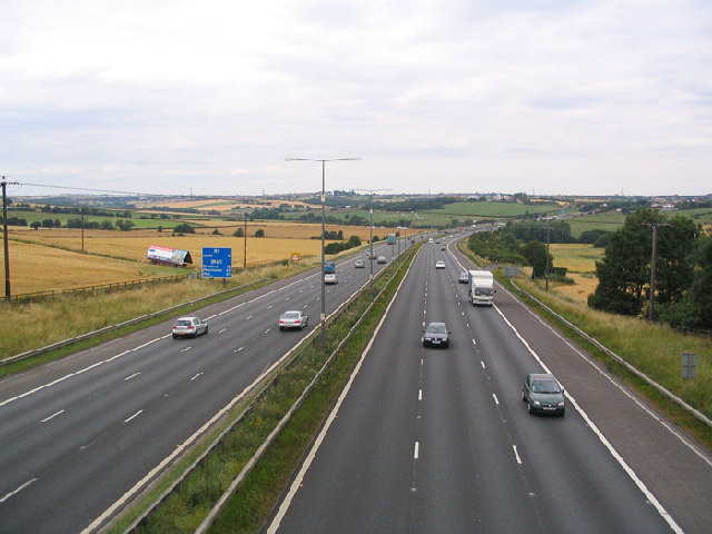M1 Motorway West Yorkshire