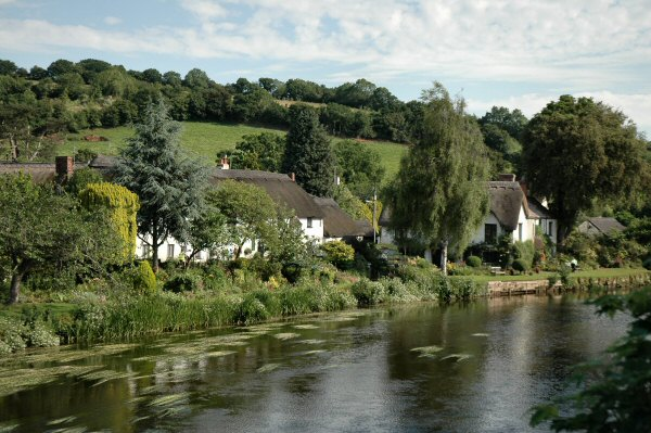 River Exe upstream from Bickleigh Bridge
