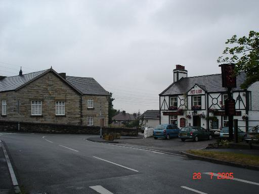 Red Lion and St. Melyd's hall at Meliden