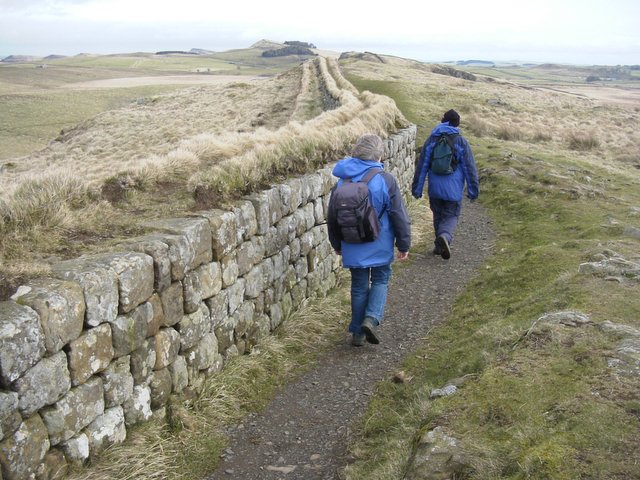 Hadrian's Wall above Peel Crags