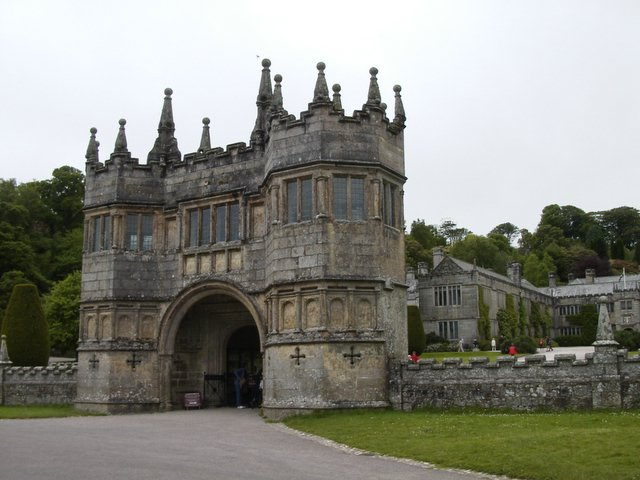 Lanhydrock Gatehouse and House beyond.