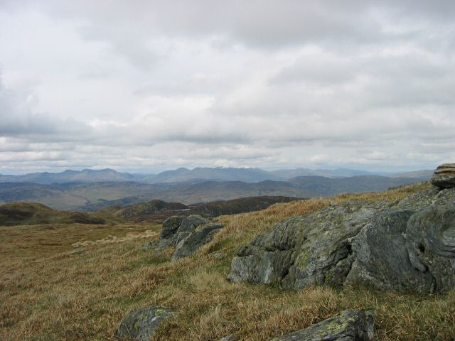 Rocks on the summit of Meall na Fearna