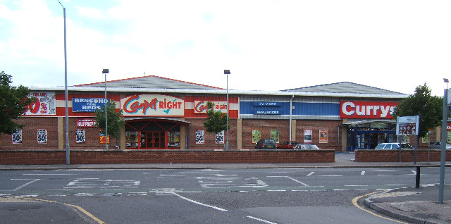 CarpetRight and Currys , A2043, New Malden