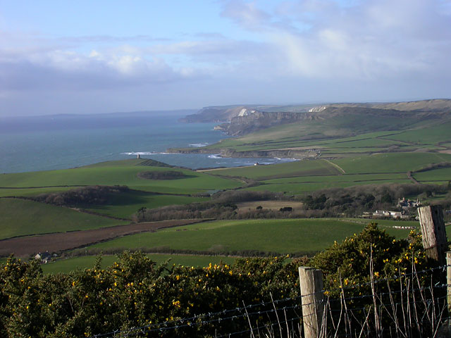 View west from Swyre Head