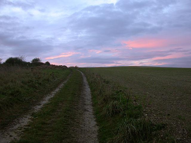 Sunset on Ridgeway, Weymouth
