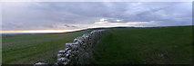 SY6486 : Sunset on Ridgeway above Friar Waddon by Bob Ford