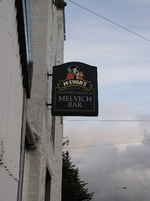 Melvich Hotel - sign
