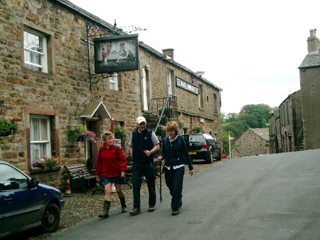The Hark to Bounty Inn at Slaidburn in the Forest of Bowland