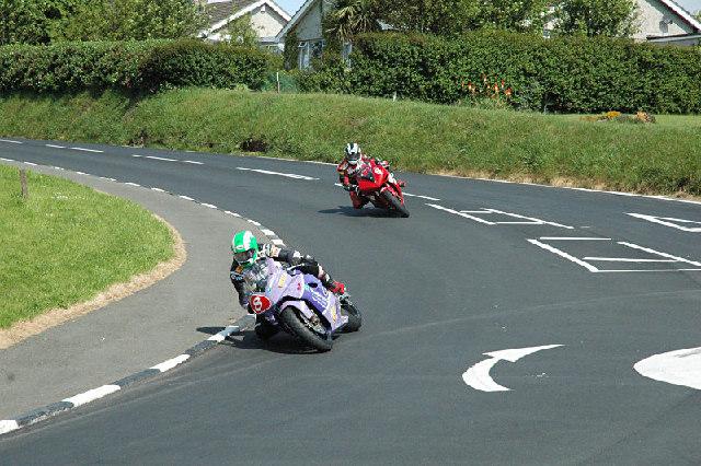 Racing at Signpost - Isle of Man