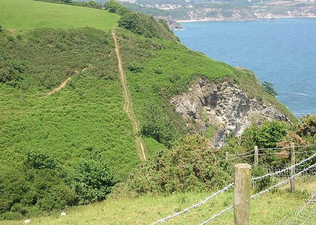 Steps on the Coast Path near Silvermine Point