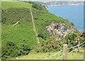 SX0349 : Steps on the Coast Path near Silvermine Point by Tony Atkin