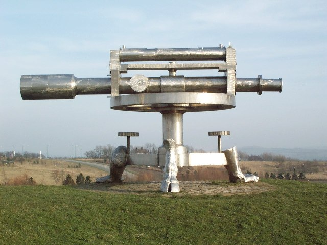 Monument on Coast to Coast Cycleway in Consett