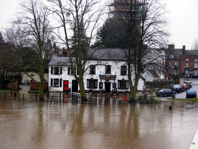 Upton on Severn in the floods