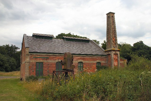 Disused pump house at West Stow Country Park