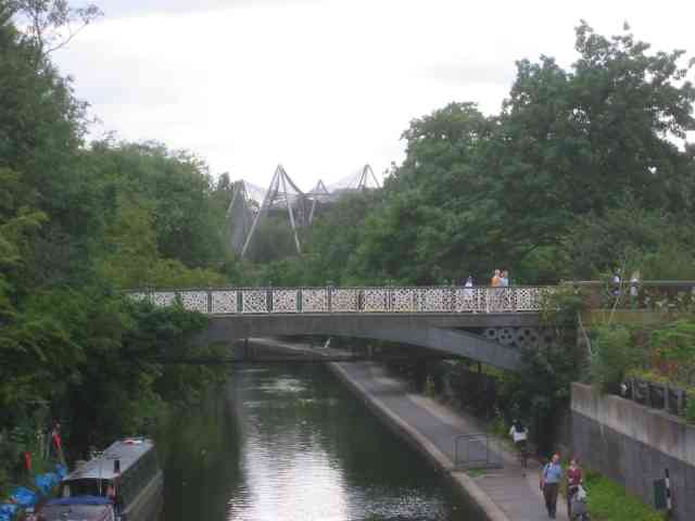 Regents Canal at London Zoo with the Aviary