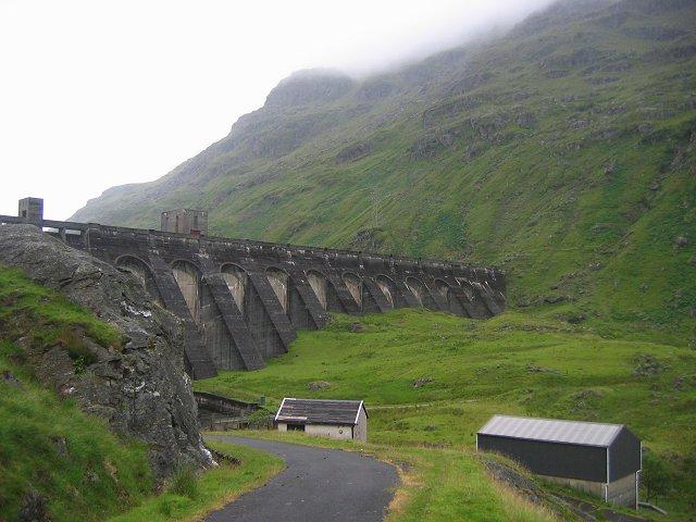 Below the Sloy Dam