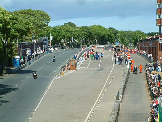 The TT Grandstand Area - Isle of Man