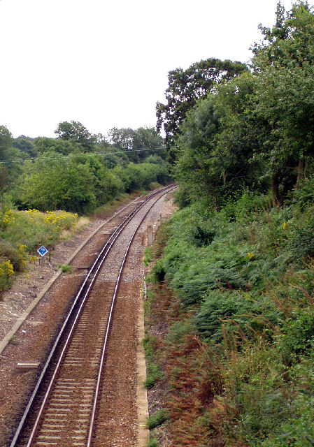 Railway line out of Botley