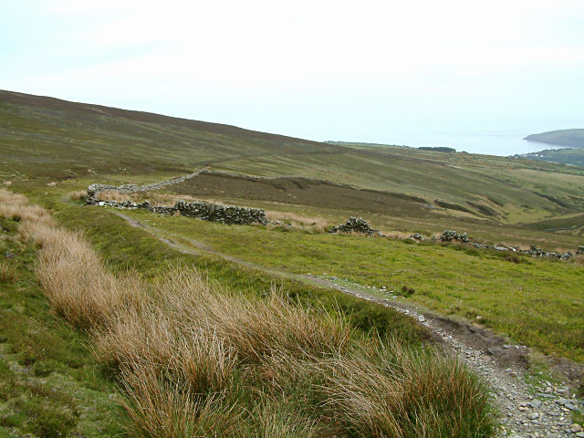 Footpath on Slieau Ruy - Isle of Man