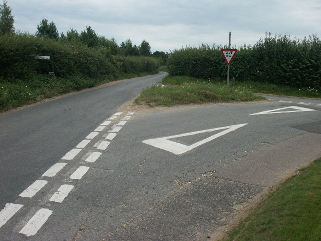 Junction of Harts Lane and Long Lane, Bawburgh