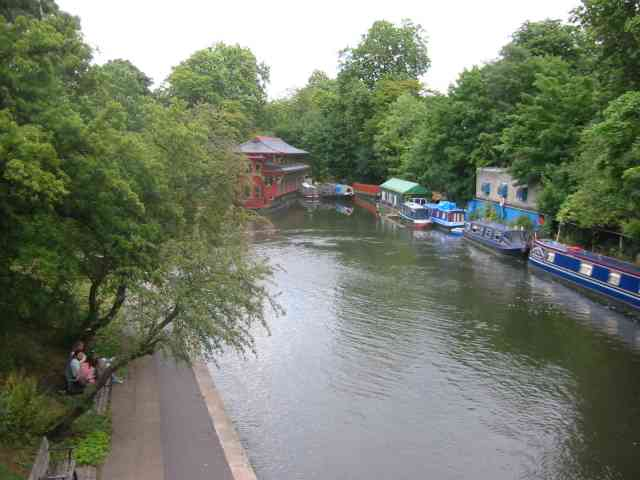 Regents Canal with the Chinese Restaurant