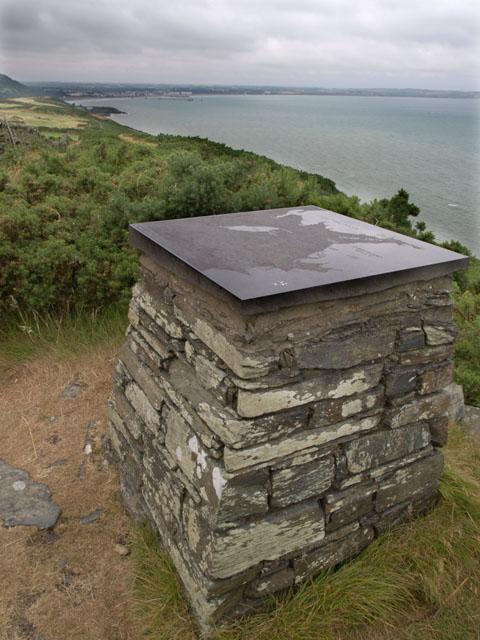 Viewpoint on coastal footpath - Maughold Brooghs.  Isle of Man.