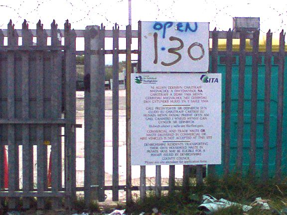 Welcome sign at Rhyl Tip
