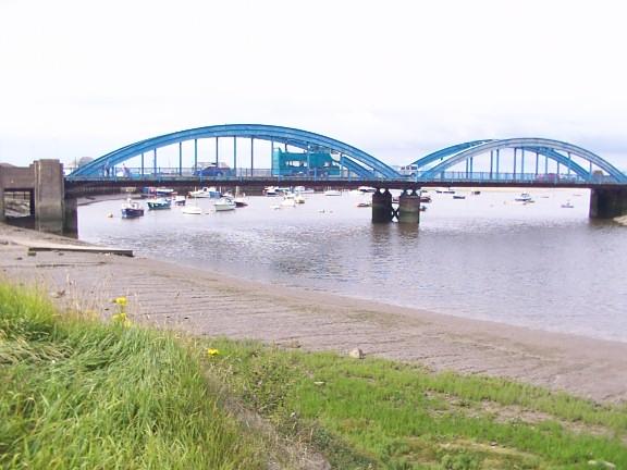 Foryd Bridge over River Clwyd