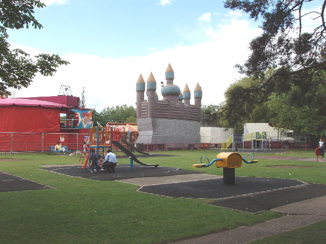 Barham Park, Wembley - playground and funfair
