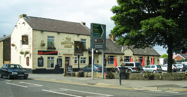 The Smelters Arms at Castleside crossroads