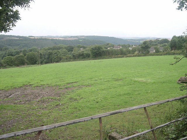 Farmland above Gunnislake village