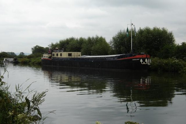 Ship moored on Gloucester and Sharpness Canal