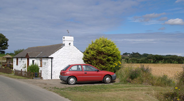 Cottage on the Rhendhoo Road.  Isle of Man.