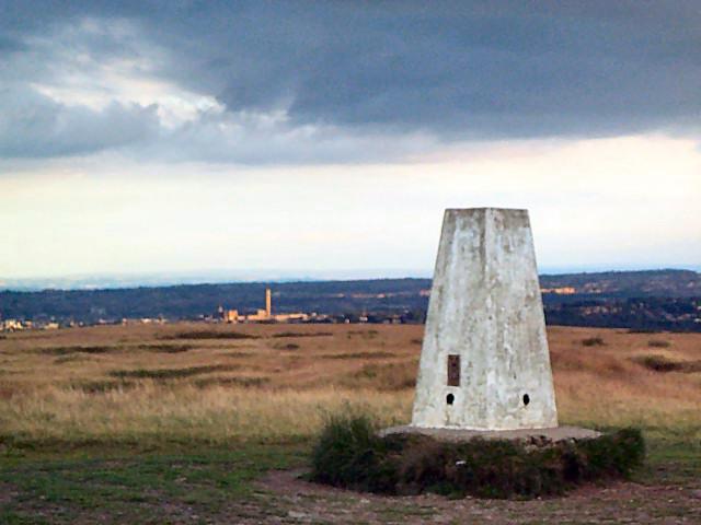 Baildon Moor trig point