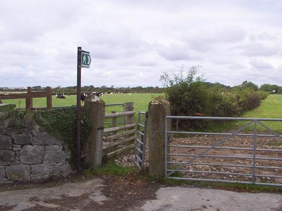 Sign marking Public Footpath