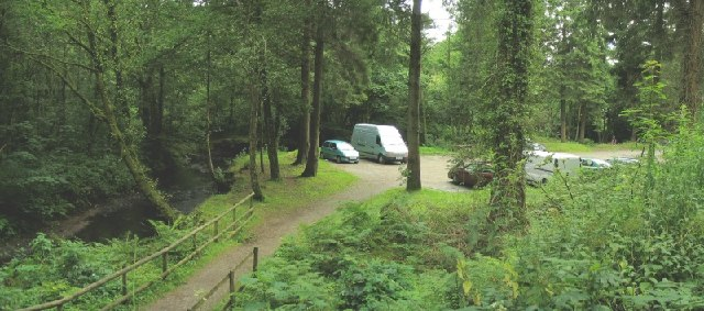 Car Park and picnic areas in Penllergaer Forest