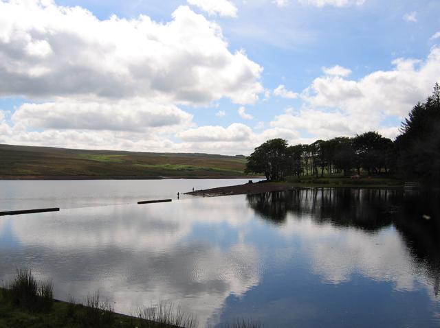 Anglers at Waskerley Reservoir