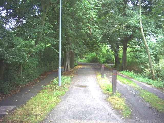 Footpath across Malden Golf Course.